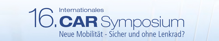 16. CAR Symposium Bochum